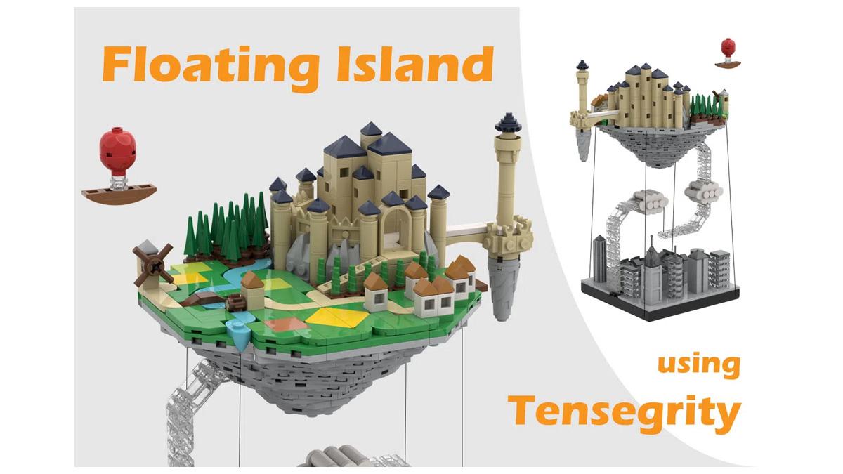 レゴアイデアで『空飛ぶ島(テンセグリティ)』が製品化レビュー進出!2021年第2回1万サポート獲得デザイン紹介