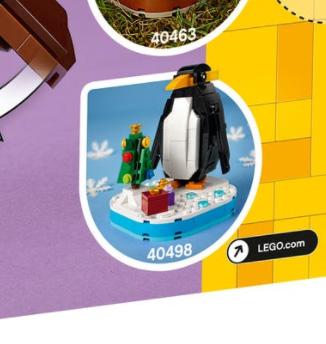 9月1日発売見込みレゴ クリスマス『40498 ペンギン』新製品情報(2021)