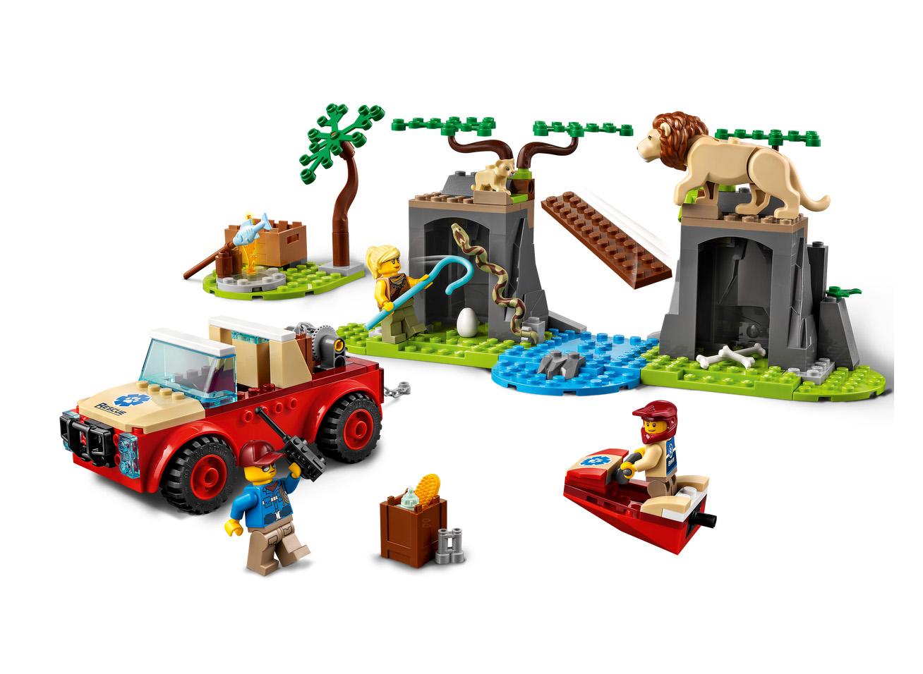 2021年6月1日発売見込みレゴ シティ新製品情報:スタントショーと動物レスキュー