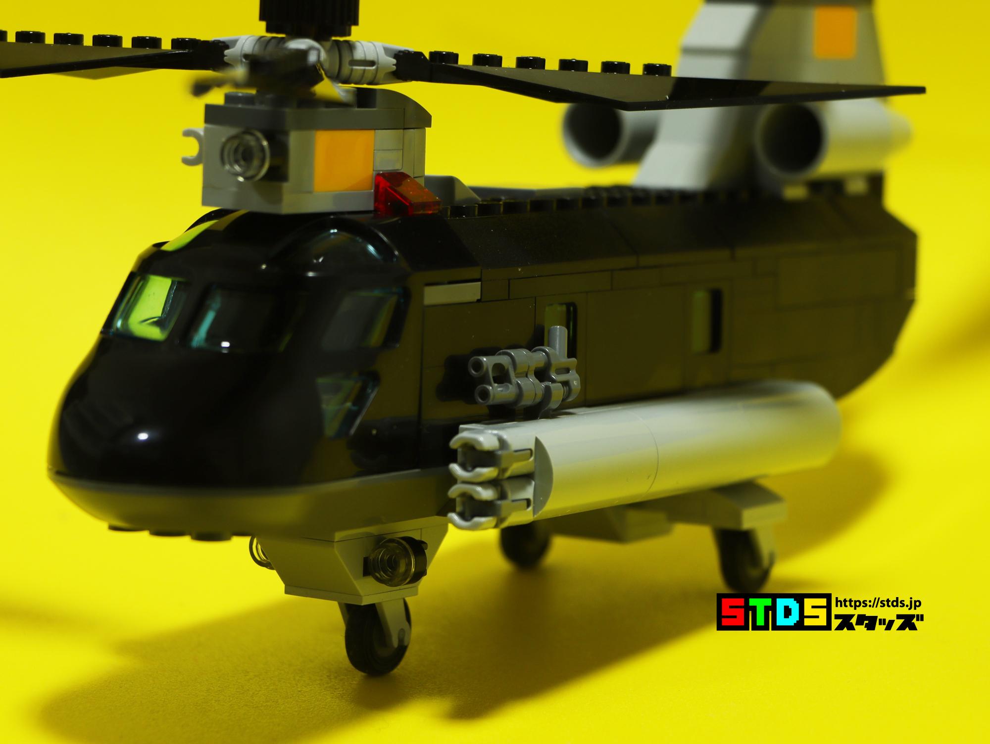 レゴ76162ブラック・ウィドウヘリとCH-47チヌークを比較しながらレビューした