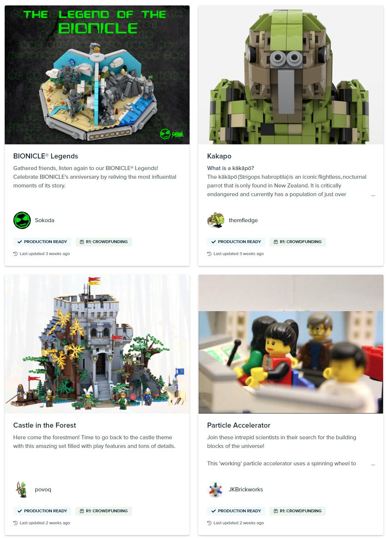 レゴアイデア審査不合格作品がクラウドファンディングでキット化(2021)