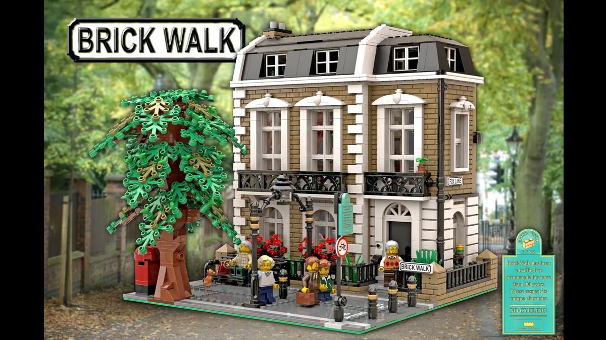 レゴアイデアで『ブリックウォーク』が製品化レビュー進出!2021年第2回1万サポート獲得デザイン紹介