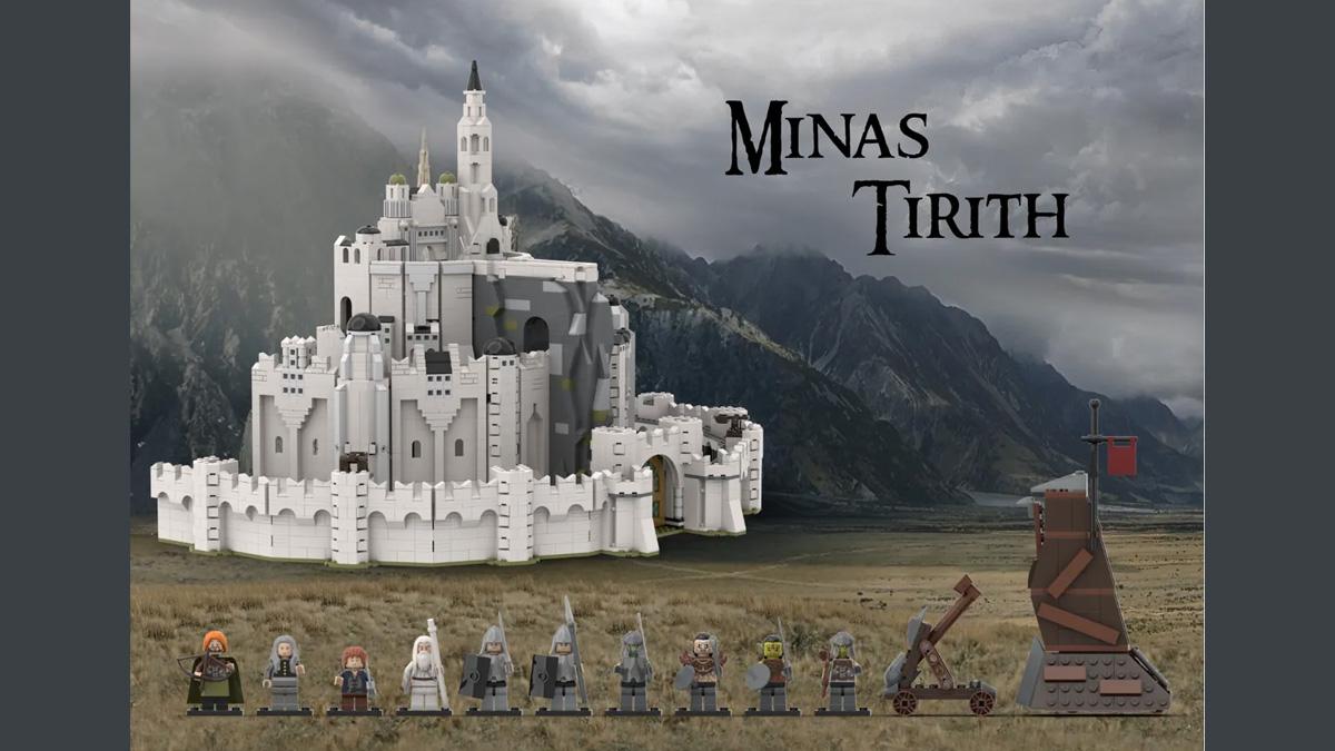 レゴアイデアで『ミナス・ティリス』が製品化レビュー進出!2021年第2回1万サポート獲得デザイン紹介