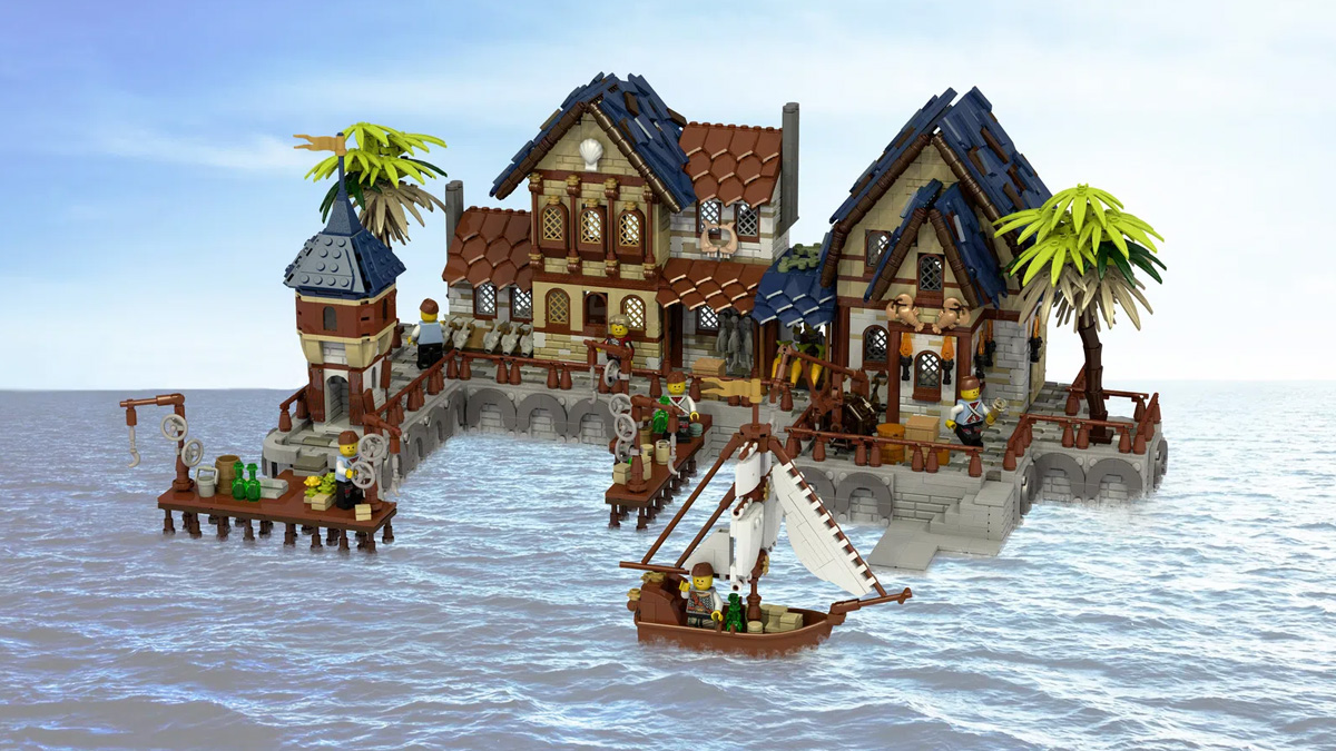 レゴアイデアで『中世の港』が製品化レビュー進出!2021年第2回1万サポート獲得デザイン紹介
