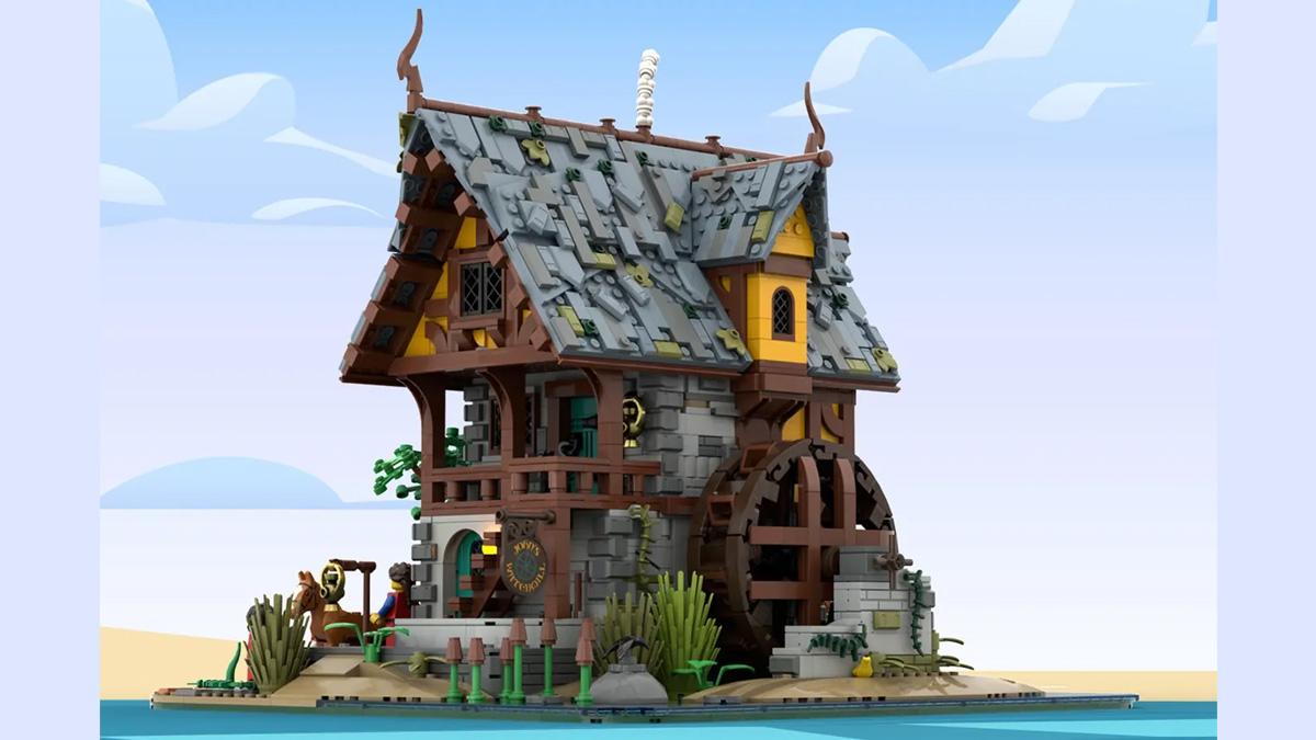 レゴアイデアで『中世の水車小屋』が製品化レビュー進出!2021年第2回1万サポート獲得デザイン紹介